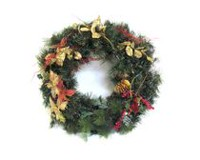 36' Decorated Pre-Lit Wreath