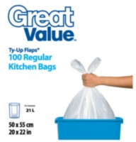 Great Value Ty-Up Regular Kitchen Garbage Bags
