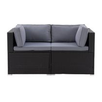 CorLiving Parksville Resin Wicker Patio Sectional Set