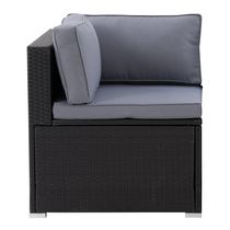 CorLiving Parksville Resin Wicker Patio Sectional Corner Chair