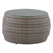 CorLiving Parksville Resin Wicker Round Patio Coffee Table