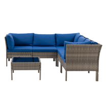 CorLiving Parksville Resin Wicker Patio Sectional