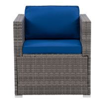 CorLiving Parksville Resin Wicker Patio Sectional Armchair