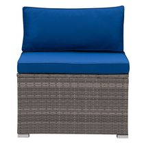 CorLiving Parksville Resin Wicker Patio Sectional Middle Chair