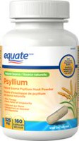 Equate Psyllium - Natural Source Psyllium Husk Powder 525 mg, 160 Capsules
