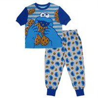 Cookies Monster Toddler Boys' Short Sleeve Top and Pant Pyjamas 2 Piece Set 5T