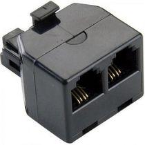 Fauge 2pcs 6P4C RJ11 Double Femelle vers Male Cable telephonique Adaptateur Repartiteur