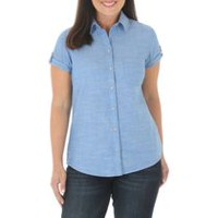Riders by Lee Women's Short Sleeve Woven Top S