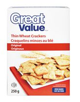 Great Value Thin Wheat Crackers