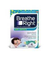 Paq. de 10 bandelettes nasales Breathe Right pour enfants
