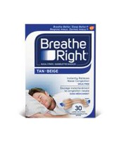 Breathe Right Nasal Strips Tan