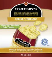 Rubbins Gluten Free Cheese Crinkle Cut Rice Crackers