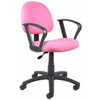 Nicer Furniture Perfect Posture Deluxe Microfiber Task Chair with Pink Loop Arms