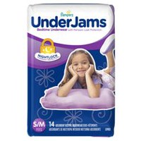 Pampers UnderJams Bedtime Underwear Girls, Jumbo Pack 7