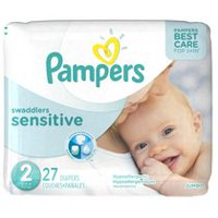 Pampers Swaddlers Sensitive Newborn Diapers, Jumbo Pack Size 2