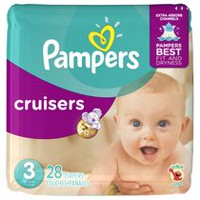 Couches Pampers Cruisers, format Jumbo Taille 3
