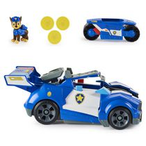 PAW Patrol, Chase 2-in-1 Transforming Movie City Cruiser Toy Car with Motorcycle, Lights, Sounds and Action Figure, Kids Toys for Ages 3 and up