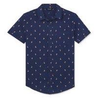 bc48b308 George Boys' Printed Short Sleeve Woven Shirt