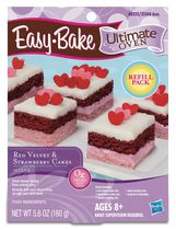 Easy Bake Ultimate Oven Red Velvet and Strawberry Cakes Refill