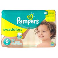 Couches Pampers Swaddlers, format Jumbo Taille 6