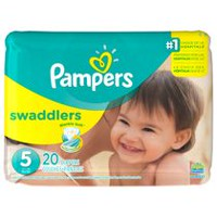 Couches Pampers Swaddlers, format Jumbo Taille 5