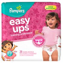 Pampers Easy Ups Training Underwear Girls, Jumbo Pack 2T-3T