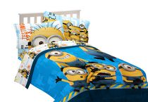 Minions Despicable Me Testing 123 Twin/Full Comforter