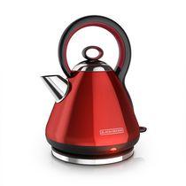 Black + Decker 1.7L Electric Cordless Kettle, Red