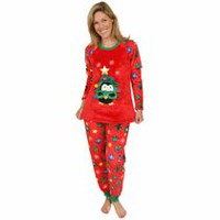George Ladies' Holiday Twosie PJ Set Red M