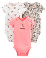 Child of mine made by Carter's Girls' Kitty Bodysuits, Pack of 3 NB
