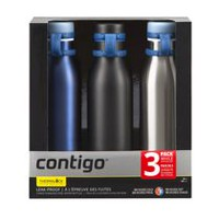 Contigo Thermalock™ Matterhorn Water Bottle, Stainless Steel, 20 oz, 3 Pack
