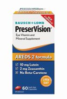 Bausch & Lomb PreserVision AREDS 2 Formula, 60 capsules