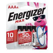 Paquet de quatre piles AAA Energizer® MAX®