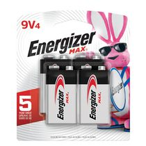 Energizer® MAX® 9-Volt, 4 Pack