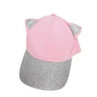 960767809 George Girl's Baseball Hat with Glitter Ears & Peak