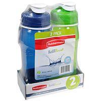 Rubbermaid Refill Reuse 2 Pack Premium Chug Bottle