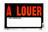 Hillman A Louer S'adresser Fluorescent Plastic Orange/Black Sign