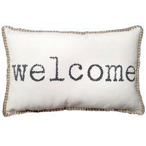 hometrends Welcome Decorative Lumbar Pillow