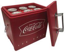 Glacière électrique Coca-Cola rétro à chargement par le haut, alimentation CA/CC, capacité de 6 canettes (4,2 pte/4 L)