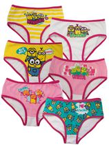 Universal Minions Girls Six Pack Hipster 6