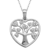 PAJ Sterling Silver Tree of Life Heart Pendant