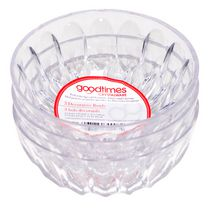 Goodtimes Crystalware Decorative Serving Bowls