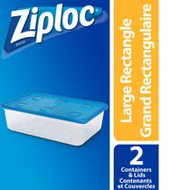Ziploc Food Storage Containers Large Rectangle, Pack of 2