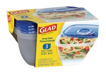 GladWare® Deep Dish Containers- (3)