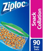 Ziploc® Brand Snack Bags, Count of 90