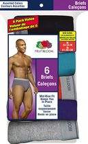 Fruit of the Loom Mens 6-Pack Briefs M