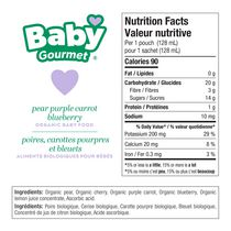 Baby Gourmet Pear Berry Purple Carrot Organic Baby Food Puree - image 5 of 5