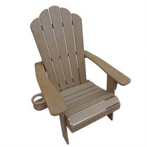 Island Retreat Adirondack Chair - Outdoor Deck, Patio Furniture - Polyresin Fade And Water-Resistant in Teak