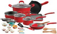 The Pioneer Woman Vintage Red Speckle 30-Piece Cookware Combo Set