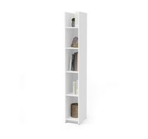 """Bestar Small Space 10"""" Narrow shelving unit in white"""